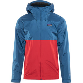 Patagonia M's Torrentshell Jacket Big Sur Blue w/Fire Red